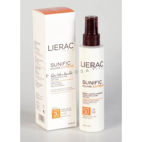 Lierac Sunific Solaire Extrême Spray Lacté Confort Spf 50+ Anti-Age 150 ml