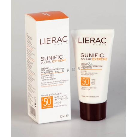 Lierac Sunific Solaire Extrême Crème Anti-Tâches Spf 50+ 50 ml
