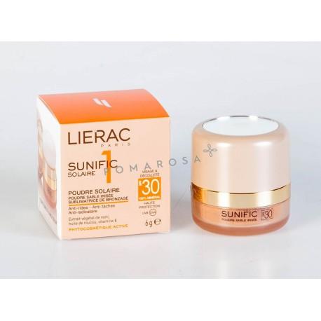 Lierac Sunific 1 Poudre Solaire Sable Irisée Spf 30