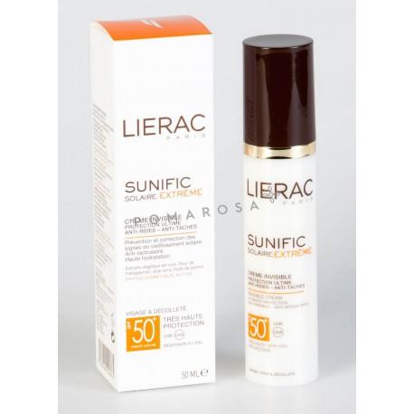 Lierac Sunific Solaire Extrême Crème Invisible Spf 50+ Anti-Rides 50 ml